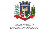 Chamamento Público - 003/17
