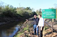 Secretaria de Meio Ambiente recupera margens do Arroio Mineiro