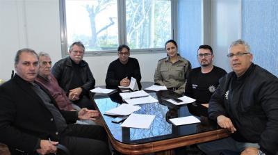 Reunião com autoridades policiais do município